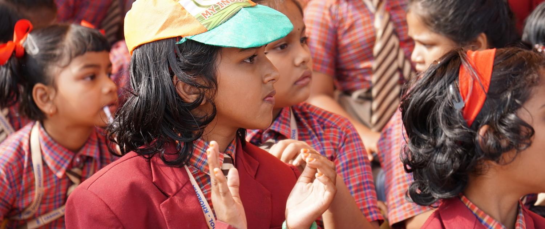 Children during Republic Day Celebration