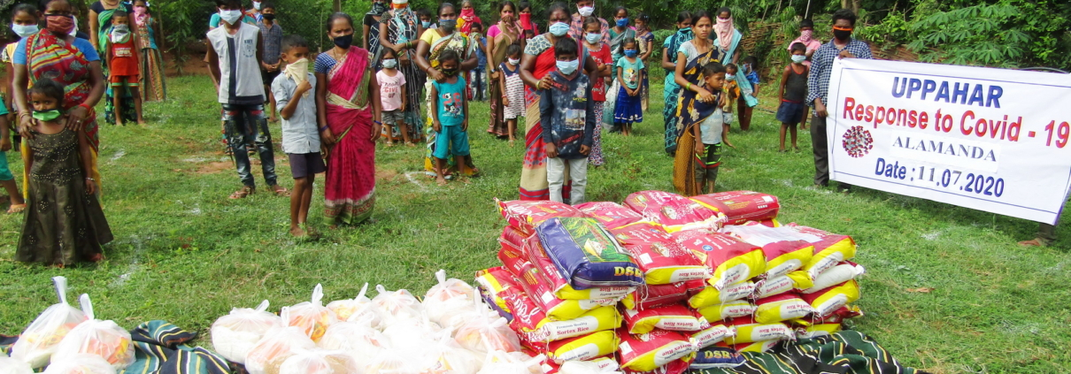 UPPAHAR is distributing food for needy people